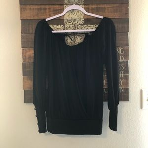 Bebe blouse size small
